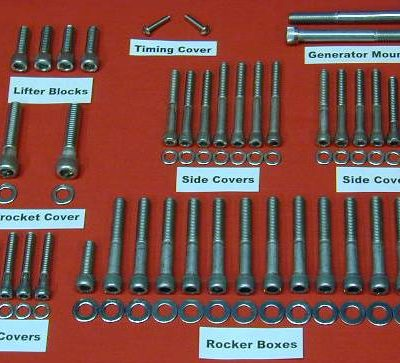 1971-1976 Sportster Ironhead Polished Allen Bolt Kit