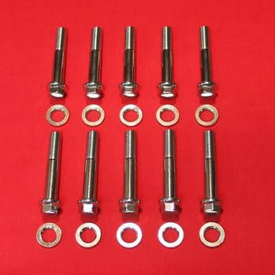 1948-1984 Polished Grade 8 Stainless Harley Head Bolt Kit