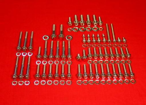 2000 to 2006 Softail Polished Grade 8 Stainless Kit