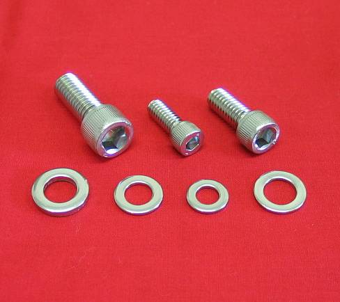 1991-2003 Polished Handlebar Clamp Bolt Kit