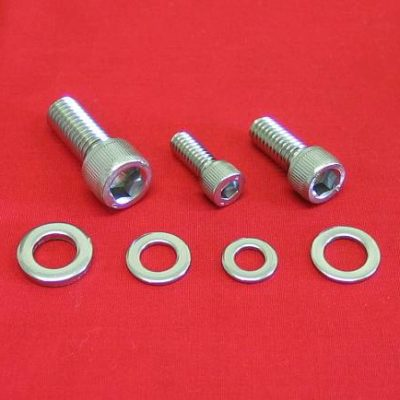 Harley Polished Starter Bolt Kit