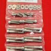 SUZUKI 1976-1979 GS750 8 VALVE POLISHED STAINLESS STEEL CYLINDER HEAD COVER BOLT KIT
