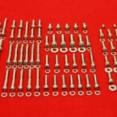 1985-86 ATC350X Polished Stainless Engine Only Bolt Kit