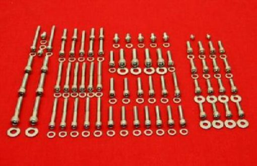 1987-90 LT500R Polished Stainless Engine Only Bolt Kit