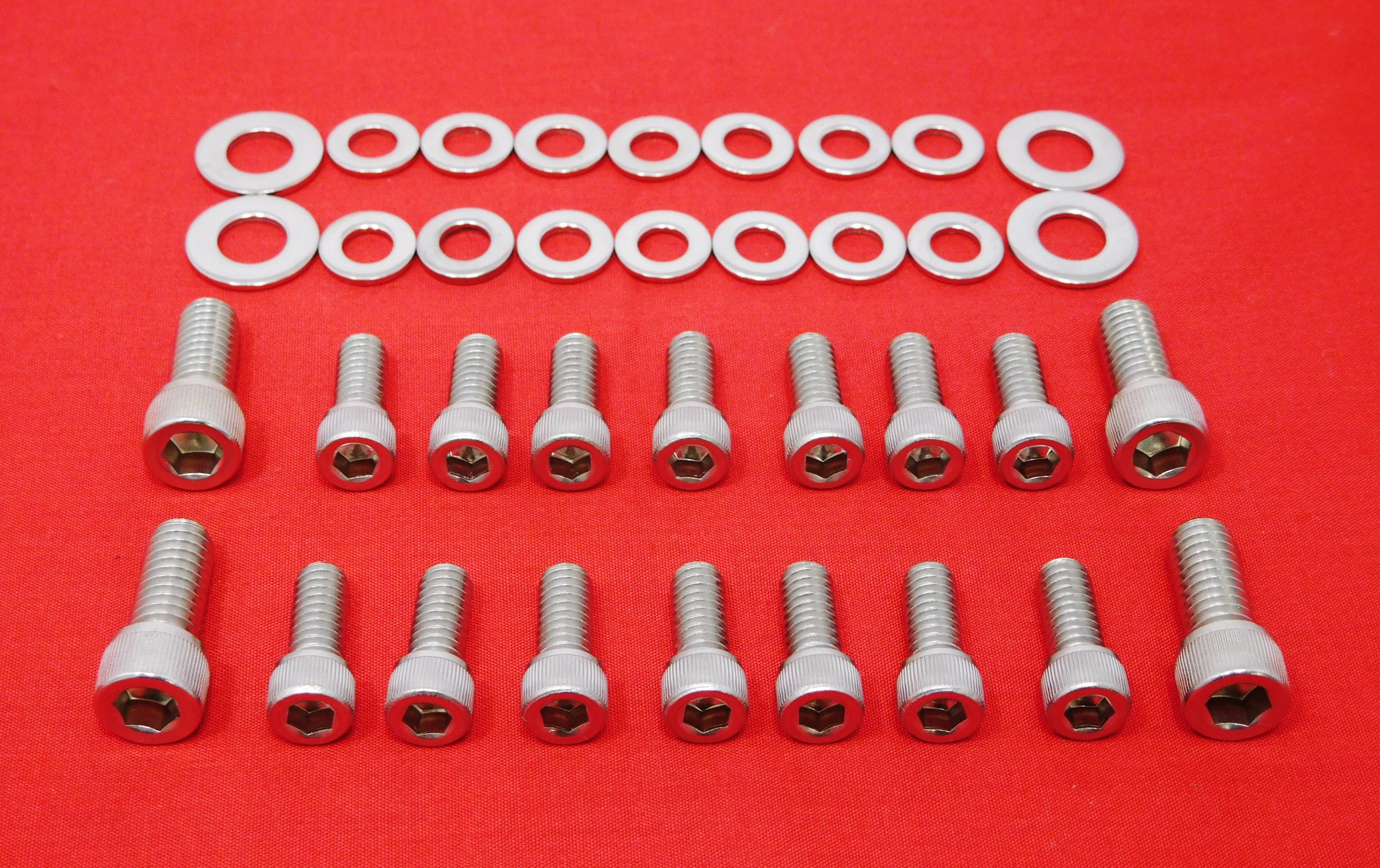 SBC SMALL BLOCK CHEVY 283 305 307 327 350 400 OIL PAN STAINLESS BOLT KIT